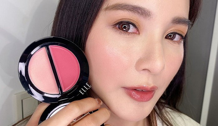 Bobbi Brown Blush & Glow Duo Palet Pink / Petal Glow на коже