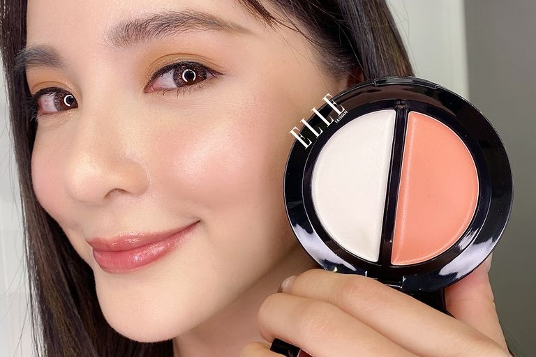 Bobbi Brown Blush & Glow Duo Fresh Melon / Magnolia Glow на коже
