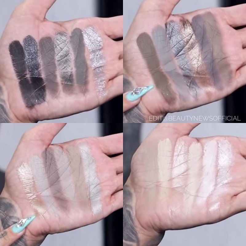 свотчи Jeffree Star Cremated Eyeshadow Palette